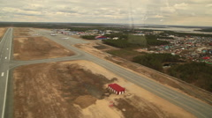 RUSSIA. Surgut - 2014: Airport and suburban Stock Footage