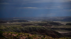 Petrified Forest Painted Desert 04 Time Lapse Thunderstorm Stock Footage