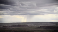 Stock Video Footage of Petrified Forest Painted Desert 05 Time Lapse Thunderstorm
