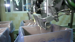 Spill in The Production Butter on The Assembly Line - stock footage