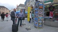 Stock Video Footage of Souvenir shops in Marienplatz, Munich