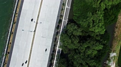 Top view. Shooting from drone. Flights above highway. Stock Footage