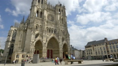 Exterior Amiens Cathedral - Amiens France Stock Footage