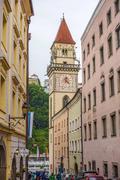 Town hall of Passau, Germany - stock photo