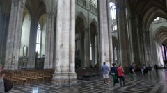Interior Amiens Cathedral - Amiens France Stock Footage