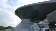 The BMW Welt and the Olympic Tower in Munich Stock Footage
