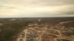 RUSSIA. Surgut - 2014: Aerial view of the suburban area Stock Footage