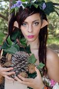 Beautiful Young Forest Elf. Stock Photos