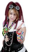 Rave Girl Stock Photos