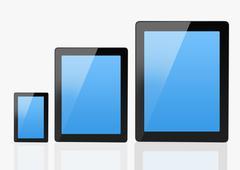 Set of Modern Communication Devices - stock illustration