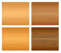 Wood textures set. Stock Illustration