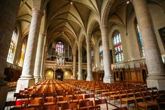 Notre-Dame Cathedral, Luxembourg is the Roman Catholic Cathedral - stock photo