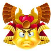 Samurai Emoji Emoticon - stock illustration