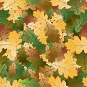 Stock Illustration of Oak leafs seamless pattern