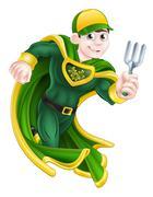 Gardener Super Hero Piirros