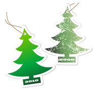 Aromatic Christmas trees Stock Illustration