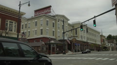 Torrington CT Downtown with Yankee Pedlar Inn - stock footage