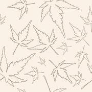 Maple leafs texture Stock Illustration