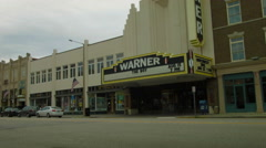 Warner Theater, movies and plays, marquee Torrington, CT - stock footage