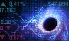 Crisis in the Finance world - stock illustration