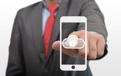 Secure Cloud Data in Smartphone Stock Photos