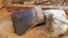 Small sweep on the table inside a house Stock Footage