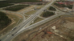 RUSSIA. Surgut - 2014: Aerial view of the Road Junction Stock Footage