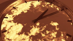 4k clock in timelapse & fast flying cloud background,watch in time. Stock Footage