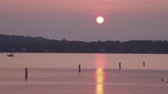 Sunrise over West Grand Traverse Bay Stock Footage