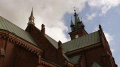 Church of St. John in Sokolow Malopolski Stock Footage