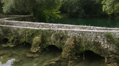 Stone old house of Krka National Park is one of Croatian Stock Footage