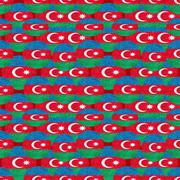 Modern Azerbaijan Pattern Motif Stock Illustration