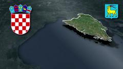 Istria whit Coat of arms animation map - stock footage