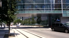 Dallas Trolley Exterior Stock Footage