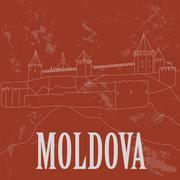 Moldova landmarks. Retro styled image Stock Illustration