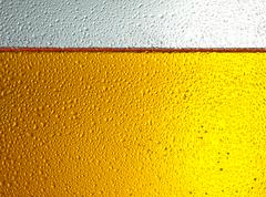 Stock Photo of detail of beer in dewy glass
