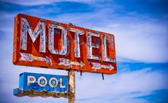 Old Vintage Motel Sign - stock photo