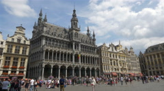 Grand Place - Brussels Belgium Stock Footage