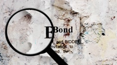 Bid bond search concept Stock Footage