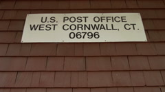 Post Office Sign, West Cornwall, CT, small town Stock Footage