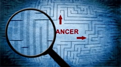 Search for cancer maze concept Stock Footage