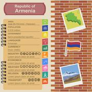 Armenia  infographics, statistical data, sights - stock illustration