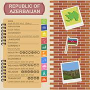 Azerbaijan infographics, statistical data, sights Stock Illustration