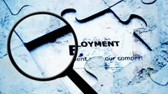 Search for employment Stock Footage