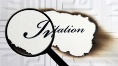 Invitation search concept Stock Footage