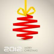 Simple vector christmas decoration - stock illustration
