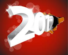 Stock Illustration of New Year 2012 coming from the big hole