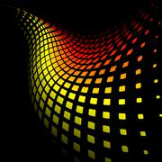 3d abstract dynamic yellow and red background - stock illustration
