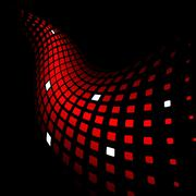 3d abstract dynamic red background - stock illustration