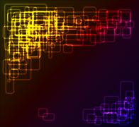 Abstract background made from rounded rectangles Stock Photos